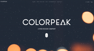 Web design by Colorpeak, SEO and ecommerce support for small and medium businesses