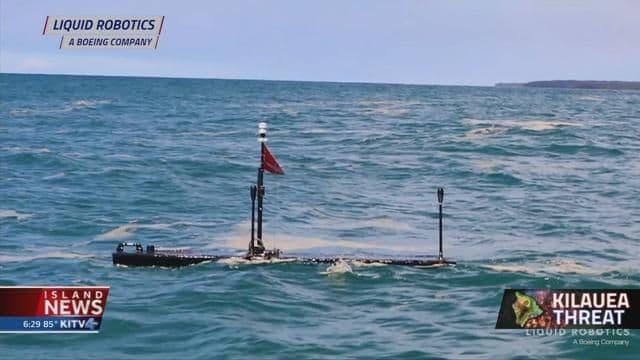 Unmanned robots help test waters near lava