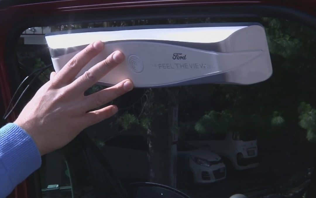 Car gadget assists blind to 'see environments' through touch