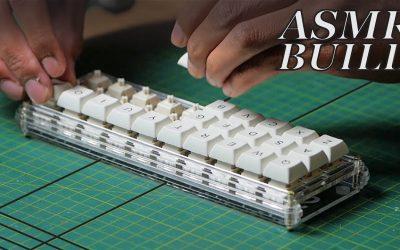 ASMR Complete Mechanical Keyboard Build + Typing