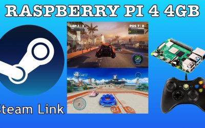 Raspberry Pi 4 Running Steam Link game streaming from Windows 10 PC