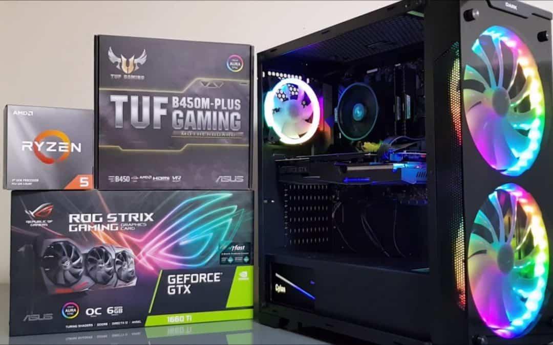 AMD Ryzen 5 3600 GTX 1660 Ti PC Build, Game & Benchmark Test
